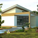 บ้านชั้นเดียวออกแบบแนวโมเดิร์น บนพื้นฐานของความเรียบง่าย ขนาด 1 ห้องนอน 1 ห้องน้ำ