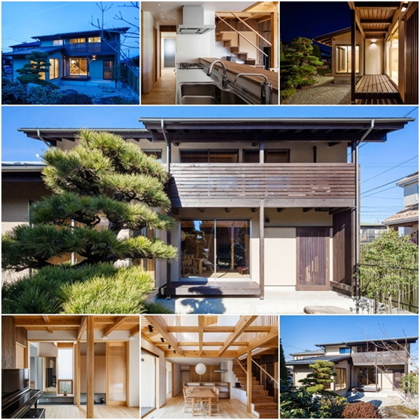 modern japanes house with zen garden (1)