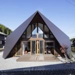 บ้านโมเดิร์นทรงสามเหลี่ยม ออกแบบเก๋ๆมีสไตล์ ตกแต่งภายในแบบลอฟท์สบายตา