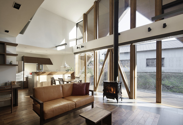 modern loft triangle house tsc architect in japan (7)
