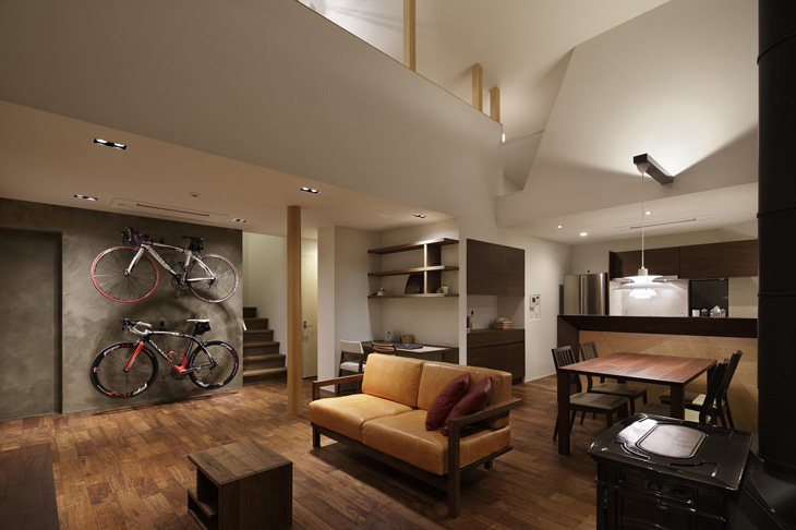 modern loft triangle house tsc architect in japan (8)