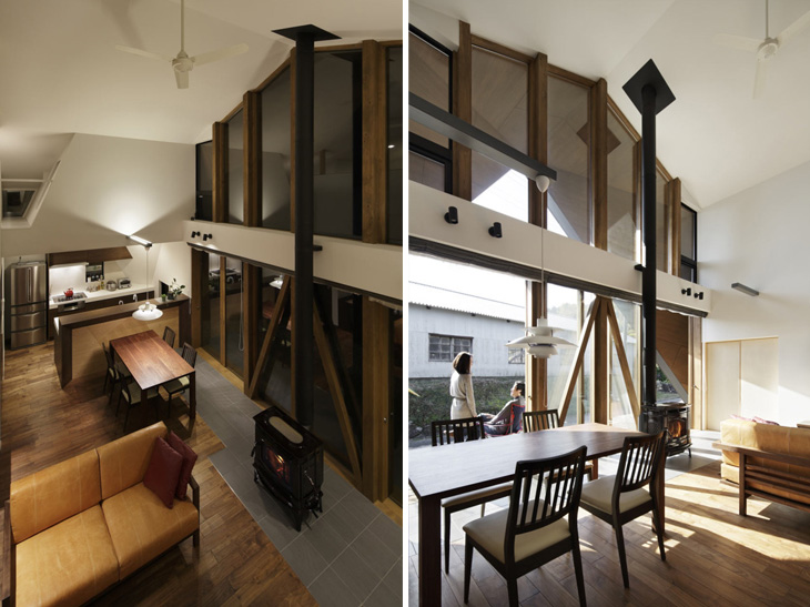 modern loft triangle house tsc architect in japan (9)