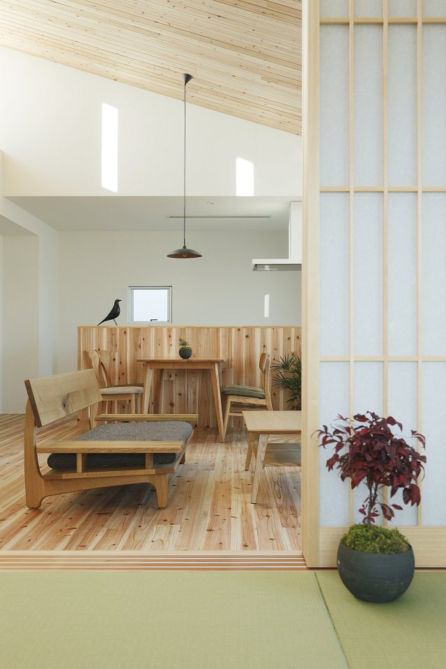 modern serene japanese house with bright white wooden interior (4)