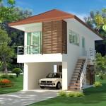 แบบบ้านสองชั้น 'บ้านตะแบกใหญ่' ออกแบบแนวโมเดิร์นเก๋ๆ บนพื้นที่กะทัดรัด ประหยัดงบ