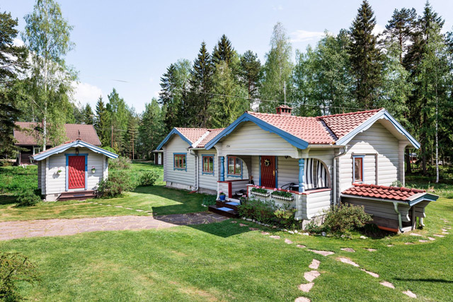 swedish wooden cottage country house  (2)