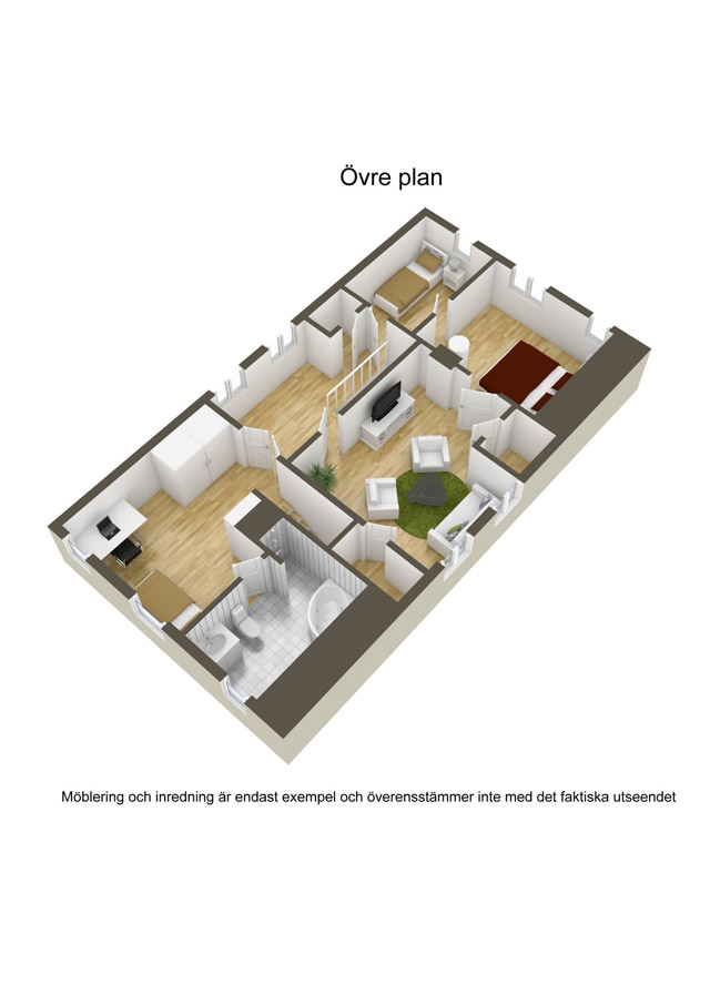 two storey cottage house idea (25)