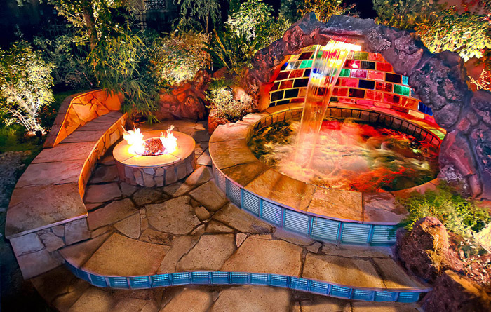waterfall pool garden idea (10)