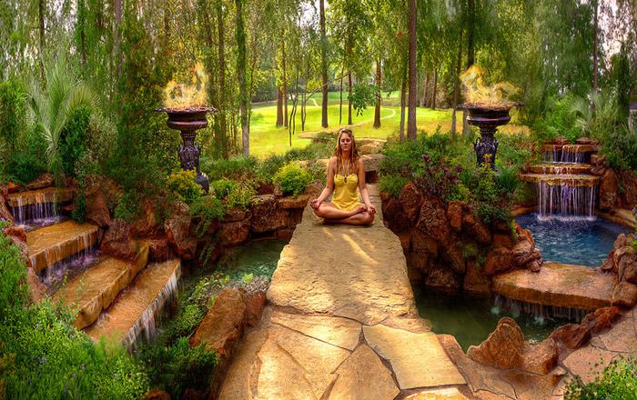 waterfall pool garden idea (14)