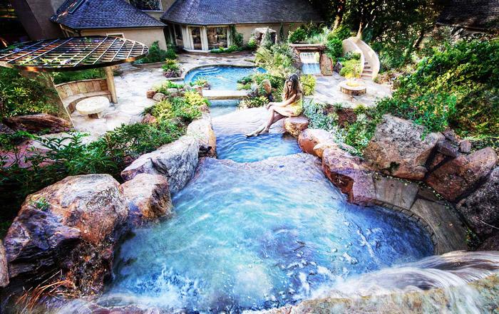 waterfall pool garden idea (15)