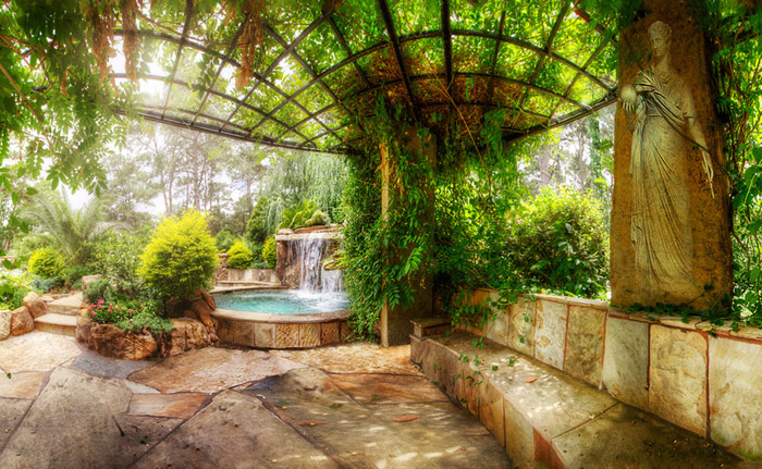 waterfall pool garden idea (16)