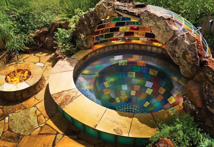 waterfall pool garden idea (20)