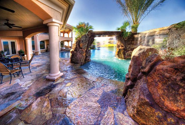 waterfall pool garden idea (21)