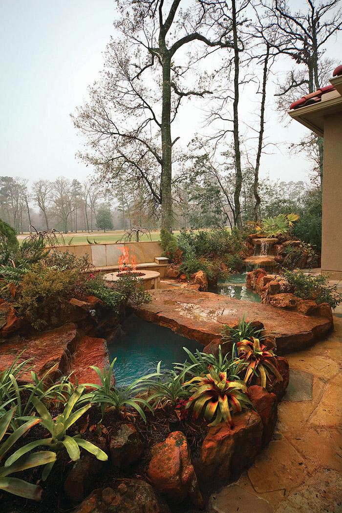 waterfall pool garden idea (25)