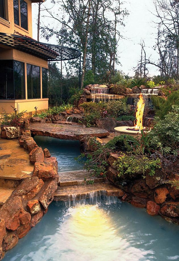 waterfall pool garden idea (26)