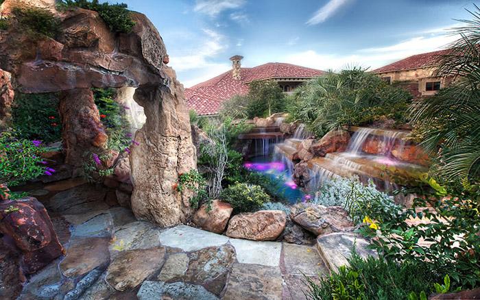 waterfall pool garden idea (27)