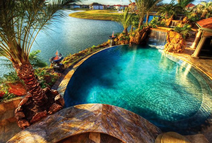 waterfall pool garden idea (30)