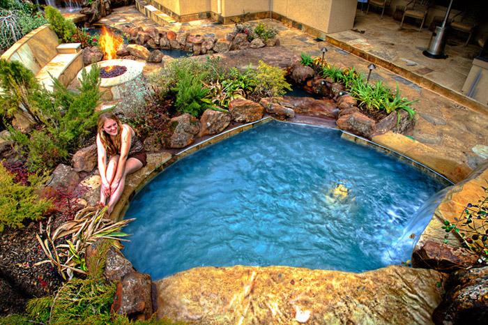 waterfall pool garden idea (4)
