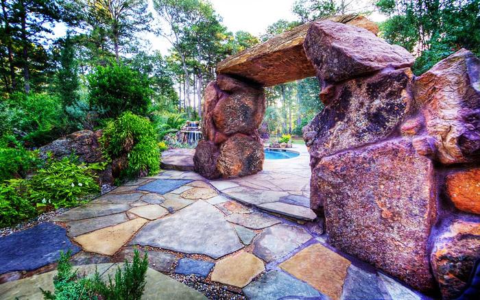 waterfall pool garden idea (5)