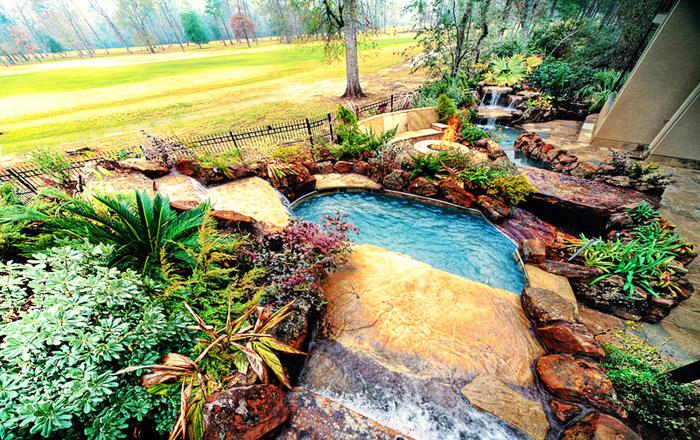 waterfall pool garden idea (9)