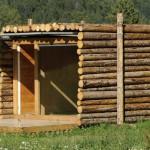 แบบบ้านกระท่อมไม้หลังเล็กๆ สร้างจากท่อนไม้เรียงต่อกัน เอาไปต่อยอดใช้งานได้