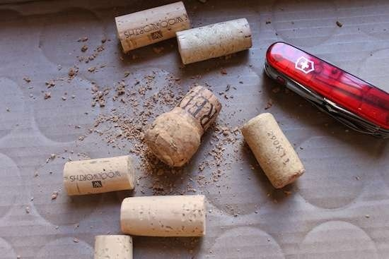 diy wine cork into fridge magnet and plant (2)