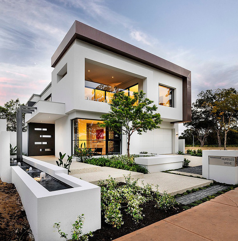 modern black and white house (19)