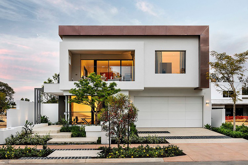 modern black and white house