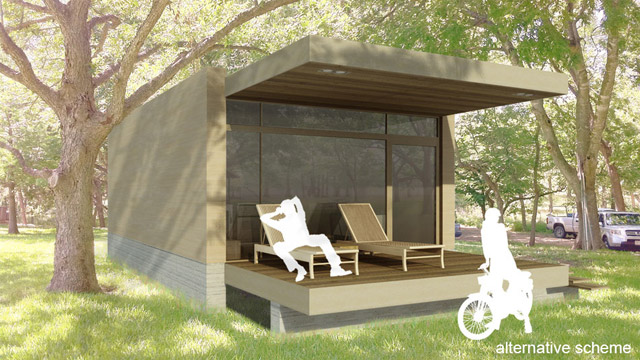 modern box house wooden exterior with peachful interior design (12)