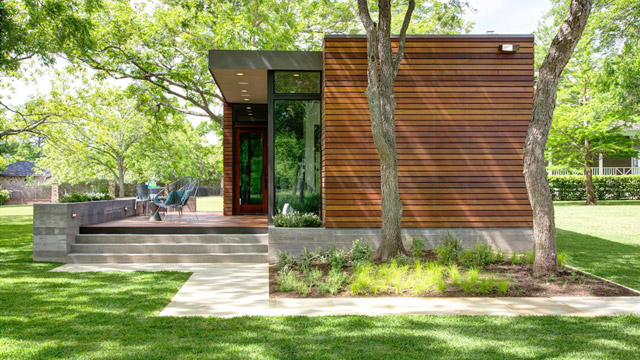 modern box house wooden exterior with peachful interior design (4)