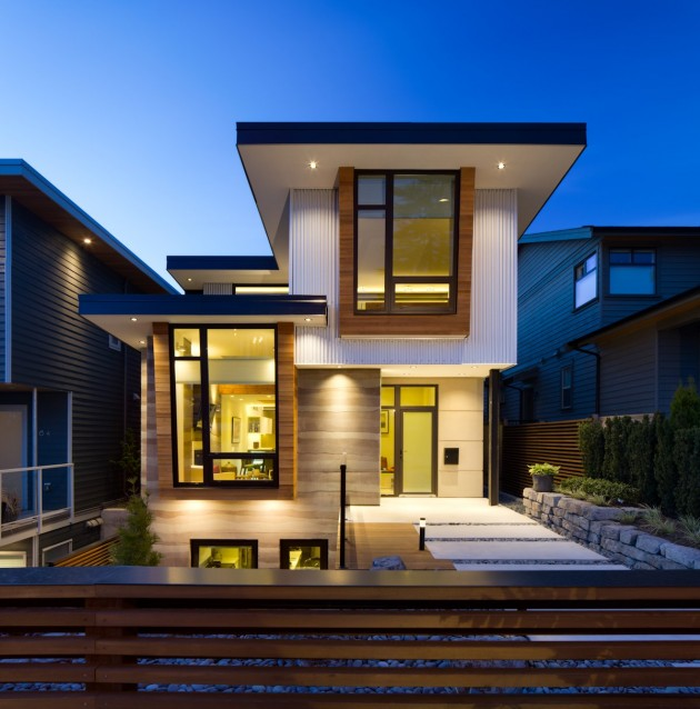 modern contemporary eco friendly house with white and elegant interior in canada (1)