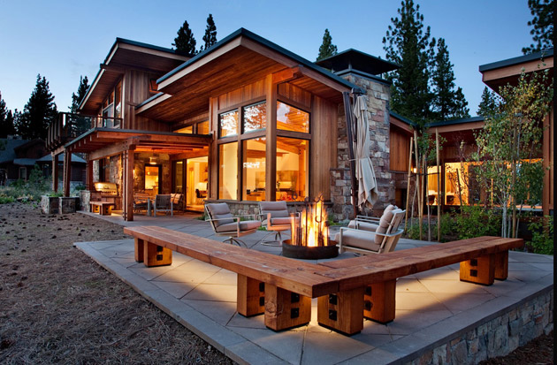 modern rustic wooden house with elegant interior design in usa (1)