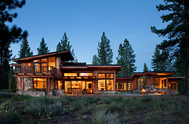 modern rustic wooden house with elegant interior design in usa (2)