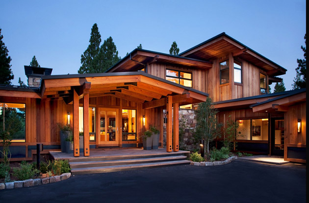 modern rustic wooden house with elegant interior design in usa (3)