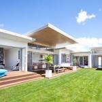 บ้านวิลล่าแบบโมเดิร์น ออกแบบมีสวนตรงกลาง ให้ทุกห้องเปิดสู่พื้นที่ธรรมชาติ