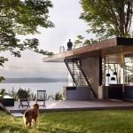 บ้านแนวโมเดิร์นสมัยใหม่ ออกแบบเพื่อการพักผ่อน บรรยากาศเนินเขาริมทะเล