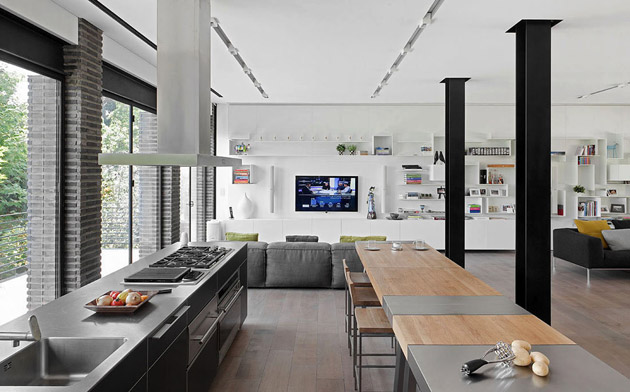 monotone modern contemporary house with bright interior and outdoor living space (8)