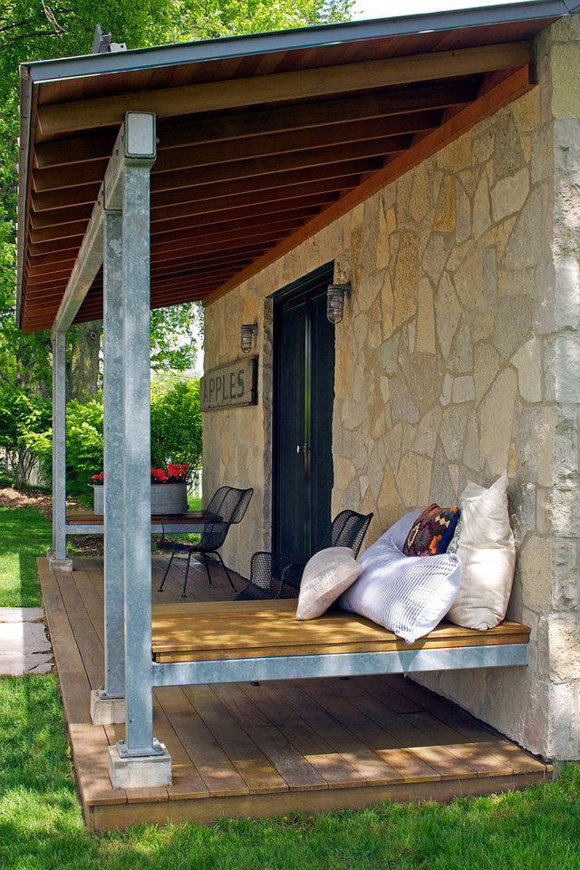 small stone cottage house in countryside with country lifestyle (4)