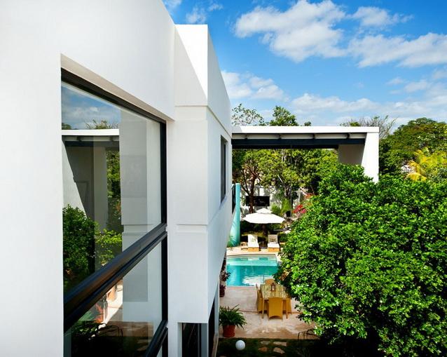 2 storey white modern elegant house (1)