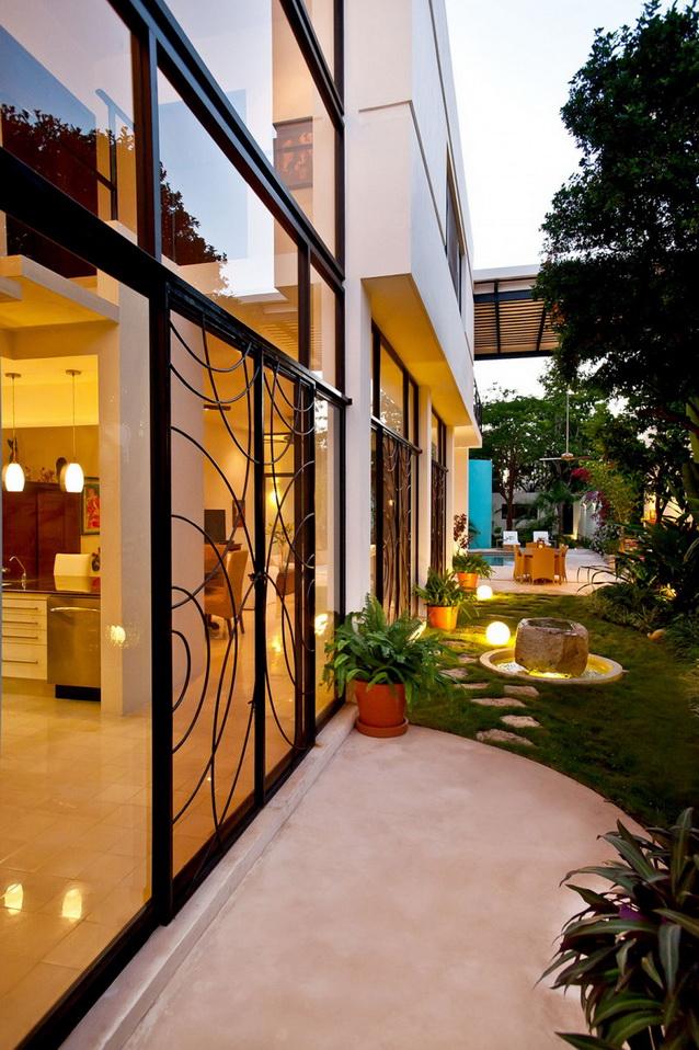 2 storey white modern elegant house (11)