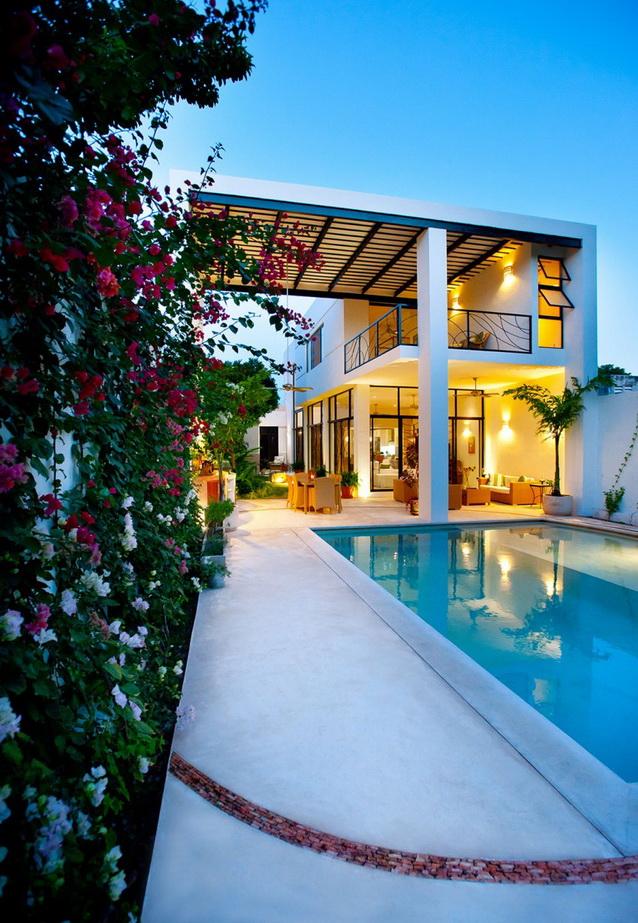 2 storey white modern elegant house (13)