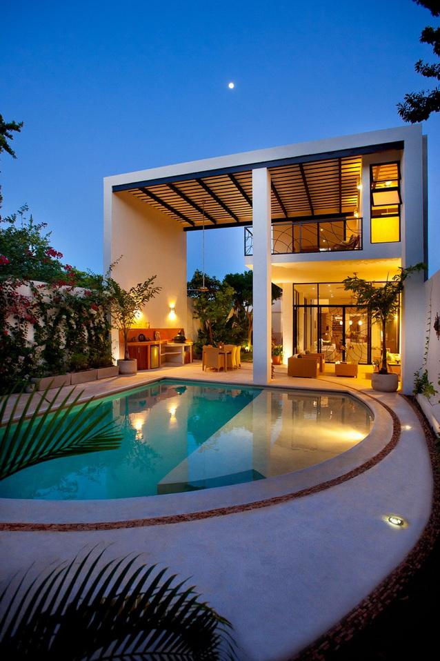 2 storey white modern elegant house (14)