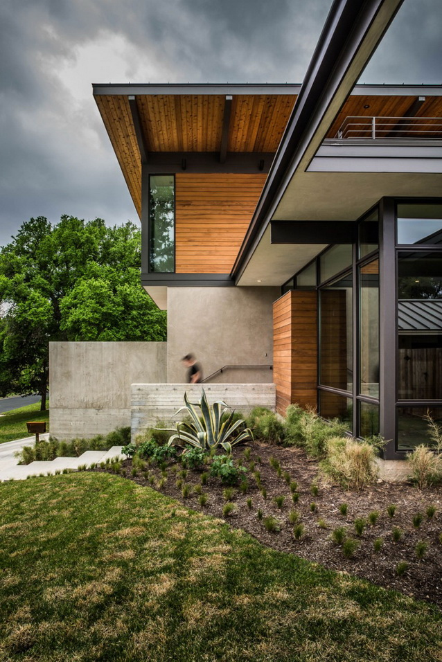 2 storey wooden and concrete modern natural house (1)