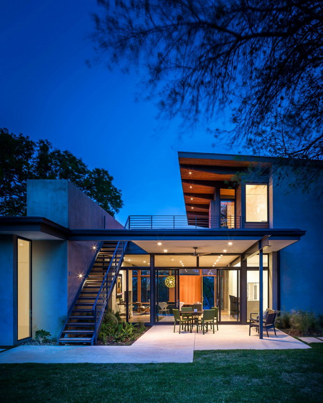 2 storey wooden and concrete modern natural house (4)