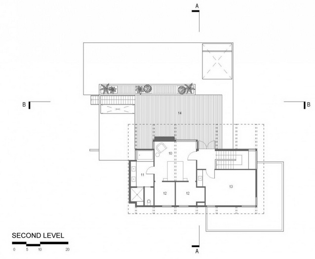 2 storey wooden and concrete modern natural house (6)