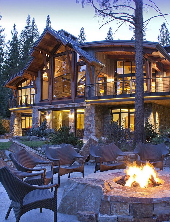 big rustic house in forest (21)