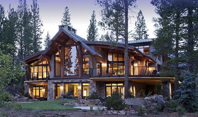 big rustic house in forest (4)