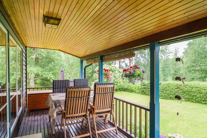 black wooden cottage with vintage interior (15)