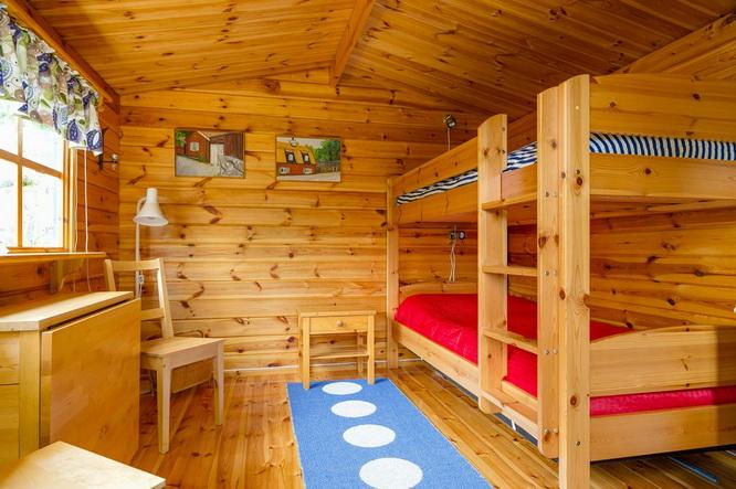black wooden cottage with vintage interior (8)