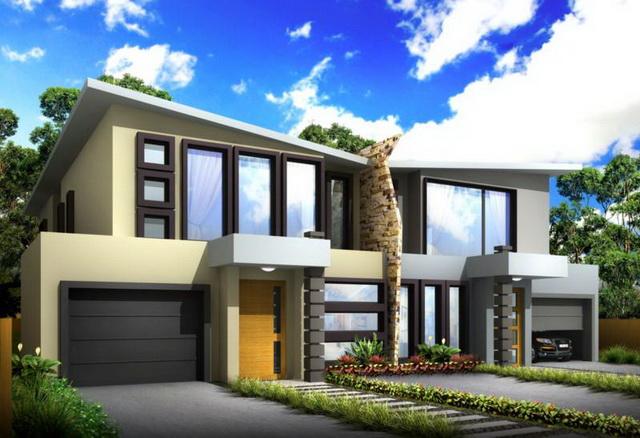 แบบบ้านแฝด ทรงหลังคาปีกผีเสื้อ สวยงาม เรียบง่าย และหรูหรา