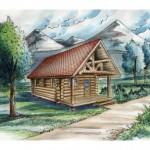 แบบบ้านไม้ขนาดกระทัดรัด เน้นความน่ารักและอบอุ่น เหมาะสำหรับสร้างเป็นบ้านในป่า